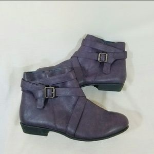 Purple ankle boots - size 11 wide